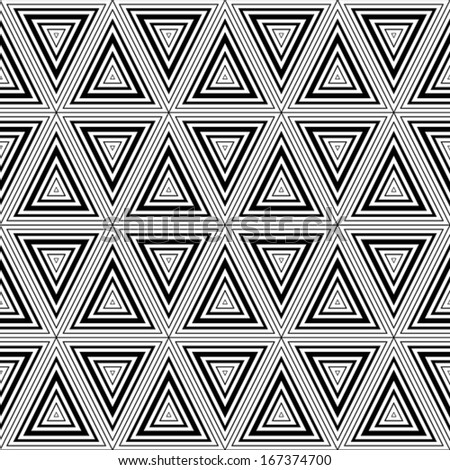 Seamless geometric black and white stripes background, simple vector pattern, accurate, editable and useful background for design or wallpaper. - stock vector