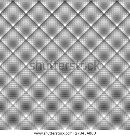 Seamless geometric checked diagonal texture. Vector art. - stock vector