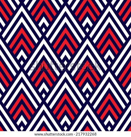 Seamless geometric chevron pattern background - stock vector