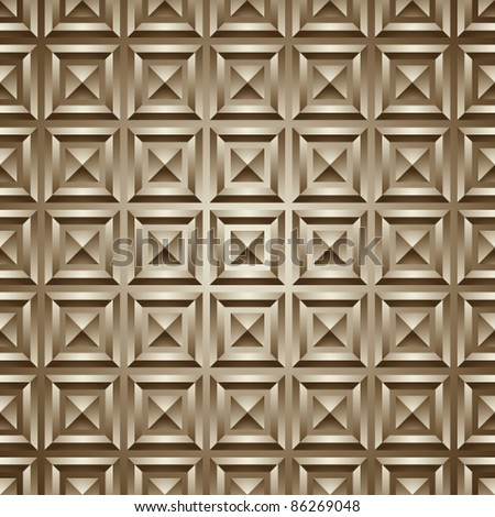 Seamless geometric 3d simplistic pattern, vector background. - stock vector