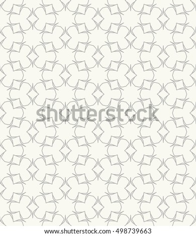 Seamless geometric line pattern in arabian style, ethnic ornament. Endless hexagonal texture for wallpaper, banners, invitation cards. Gray and white graphic lace background