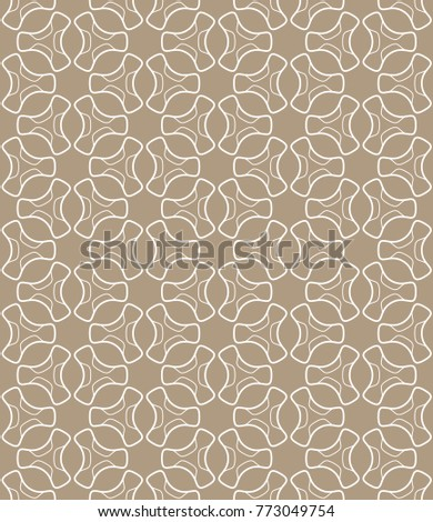 Seamless geometric line pattern in arabian style. Repeating linear texture for wallpaper, packaging, banner, invitation, business card, fabric print.Monochrome graphic background, lace pattern