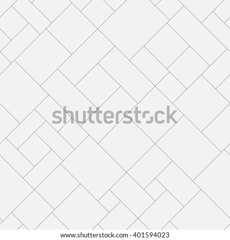 Seamless geometric monochrome diagonal pattern. Abstract floor or pavement block texture. Vector background.