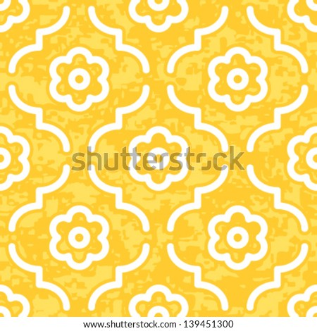 Seamless Geometric Morocco Pattern Inspired Background Vector. Easy to customize on your own, important features of the artwork are in separate layers. - stock vector
