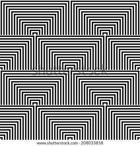 Seamless geometric op art texture. Vector art. - stock vector