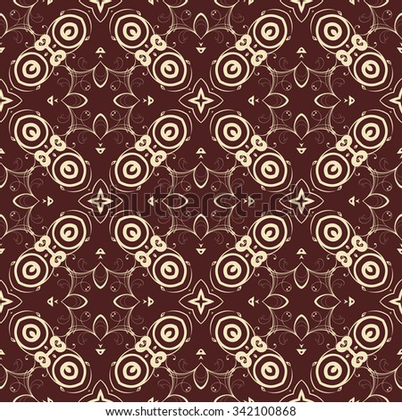 Seamless geometric ornament on background. Wallpaper pattern