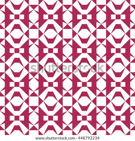 Seamless geometric pattern. Abstract background (crimson color) - stock vector