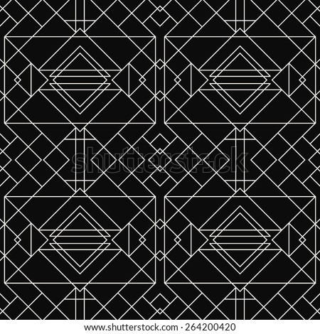 Seamless Geometric Pattern. Art Deco styled  - stock vector