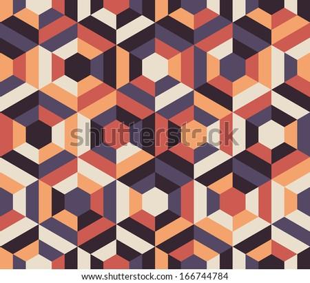 Seamless geometric pattern background. Vector art. - stock vector