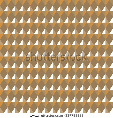 Seamless geometric pattern. Carbon texture. Rhombus convex shine light figures on yellow background. Gold, jewelry, honey theme. Shine, glitter colored. Vector  - stock vector