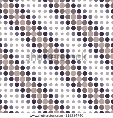 seamless geometric pattern. diagonal dots. vector repeating texture - stock vector
