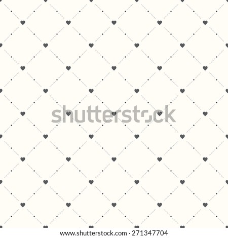 Seamless geometric pattern. Hearts. vector repeating texture - stock vector