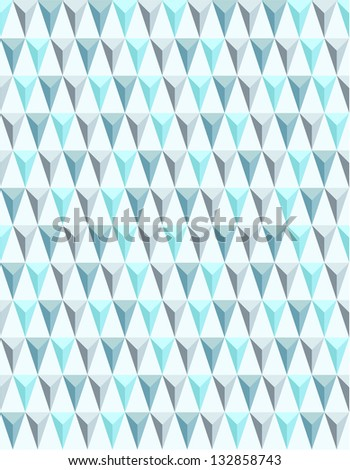 Seamless geometric pattern in blue tints