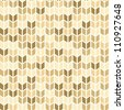 Seamless geometric pattern in golden tints - stock photo