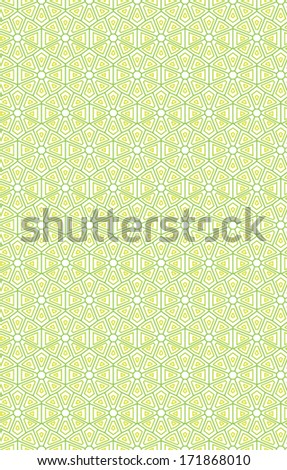 Seamless geometric pattern in green color. For banknote, money design, currency, note, check, cheques, ticket, reward. Vector .