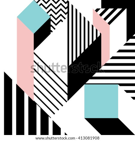 Seamless geometric pattern in modern abstract style 3