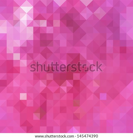 Seamless geometric pattern in pink colors - stock vector