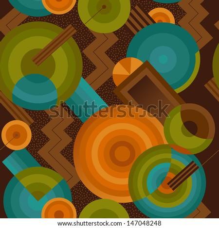 Seamless geometric pattern in retro style Art Deco - stock vector