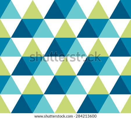 Seamless geometric pattern. Infinity abstract triangle geometrical background. Vector illustration. - stock vector