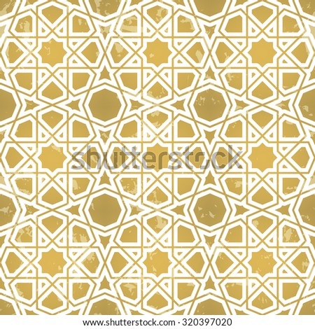 Seamless geometric pattern. Inspired by old ornaments
