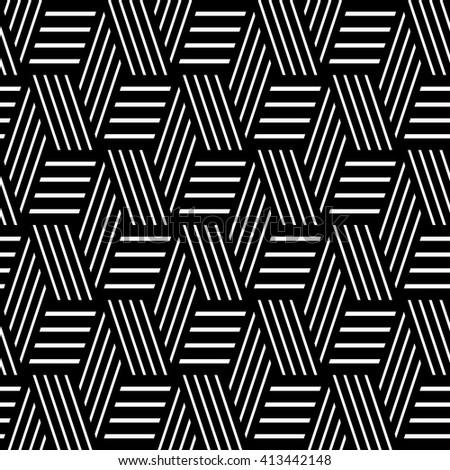 Seamless geometric pattern. Lines texture. Vector art. - stock vector