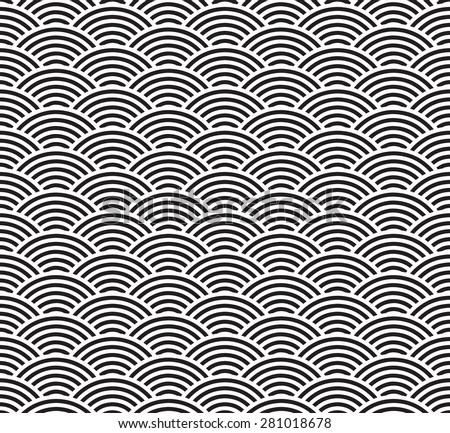 Seamless geometric pattern of circles - stock vector