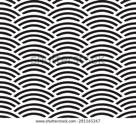 Seamless geometric pattern of circles. Pattern of lines.