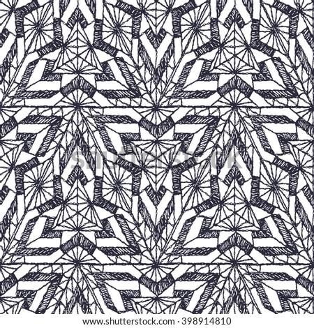 Seamless geometric pattern crochet triangles stock vector seamless geometric pattern of crochet triangles dt1010fo