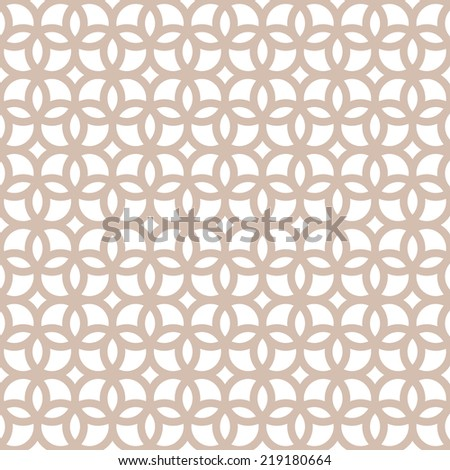 Seamless geometric pattern of the rings on a white background.  Abstract geometric texture. - stock vector