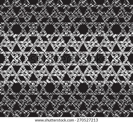 Seamless geometric pattern of the straight lines. Abstract black and white texture.