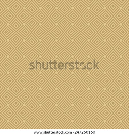 seamless geometric pattern of tilted squares and rhombuses in art deco style. - stock vector
