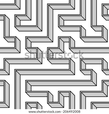 Seamless geometric pattern (repeatable) - stock vector