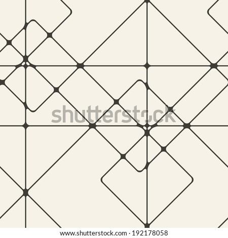 Seamless geometric pattern. Repeating line background - stock vector