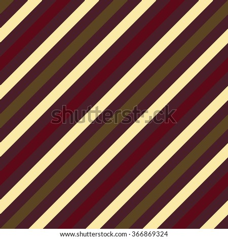 Seamless geometric pattern. Stripy texture for neck tie. Diagonal contrast strips on background. Brown, vinous, beige, green colors. Vector - stock vector