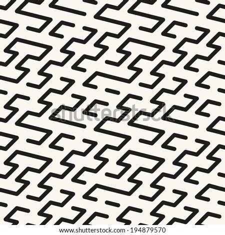 Seamless geometric pattern. Vector texture. Repeating zigzag maze