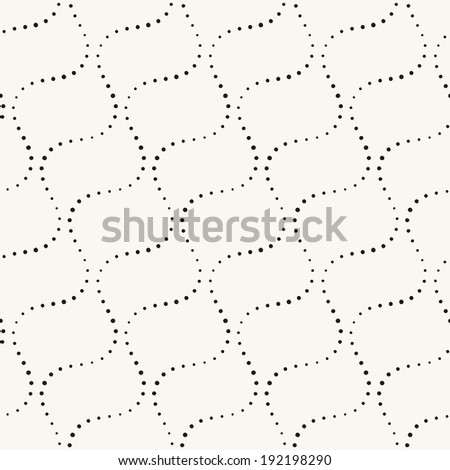 Seamless geometric pattern. Vertical wavy stripes. Vector repeating texture with circles