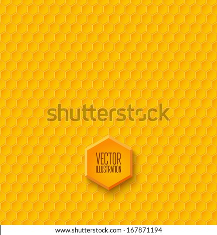 Seamless geometric pattern with honeycombs. Vector illustration