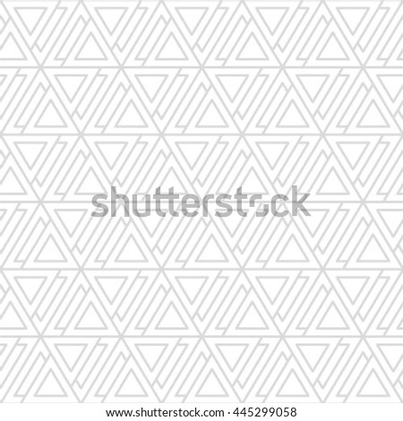 Seamless geometric pattern with monochrome elements, vector abstract background. - stock vector