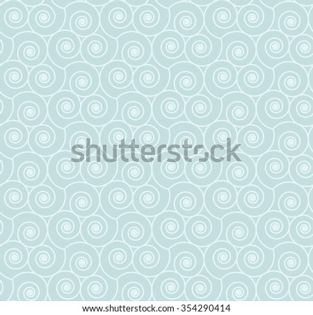 Seamless geometric pattern with swirls. Vector illustration.  - stock vector