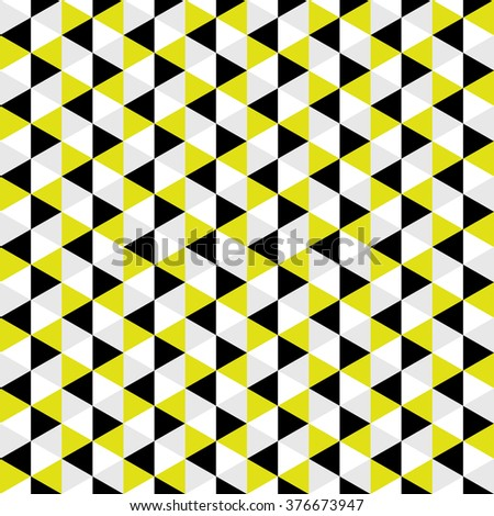 Seamless Geometric Pattern with Triangles. Can be Used in Package Design, Paper and Textile.