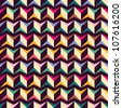 Seamless geometric pattern with zigzags. Can be used in textiles, for book design, website background. - stock photo