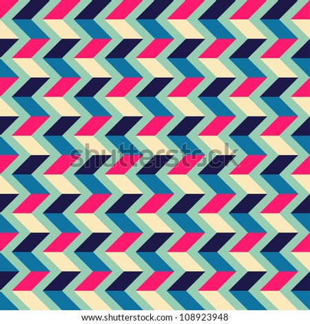 Seamless geometric pattern with zigzags. Can be used in textiles, for book design, website background. - stock vector