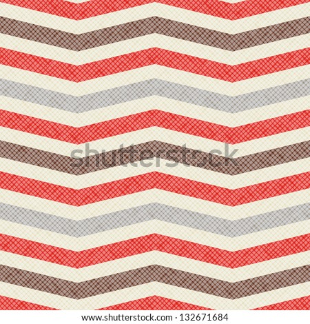 Seamless geometric pattern. Zig zag stripes. Vector fabric texture - stock vector