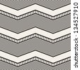 Seamless geometric pattern. Zig zag stripes. Vector graphic texture - stock vector
