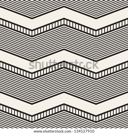 Seamless geometric pattern. Zig zag stripes. Vector graphic texture