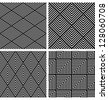 Seamless geometric patterns. Textures set. Vector art. - stock vector