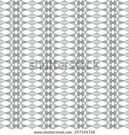 Seamless geometric repeating pattern. Lace effect hipster background 2 - stock vector