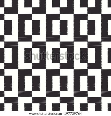 seamless geometric square pattern - stock vector
