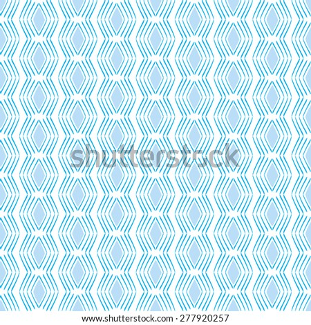 Seamless Geometric Square Pattern in blue and white. Can be repeated on any shape
