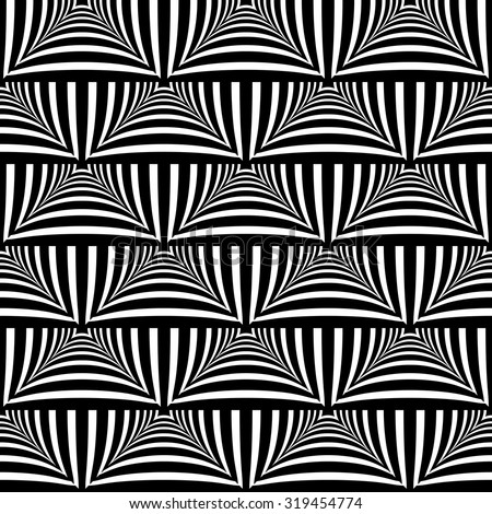 Seamless geometric texture. Checked and striped pattern. Vector art.